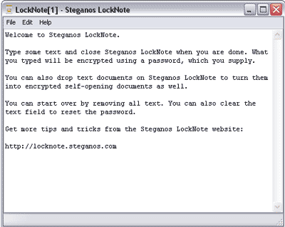 LockNote Screenshot