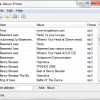 Create a List of Songs – Album Printer