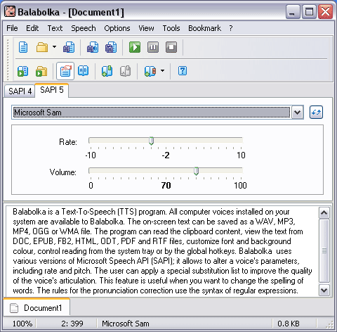 Balabolka - Free Text to Speech Software
