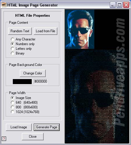 Text to Image - HTML Imager