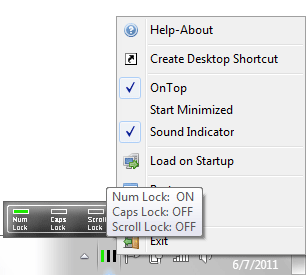Num Caps Scroll Lock Indicator