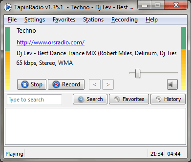 TapinRadio - Portable Internet Radio Player and Recorder