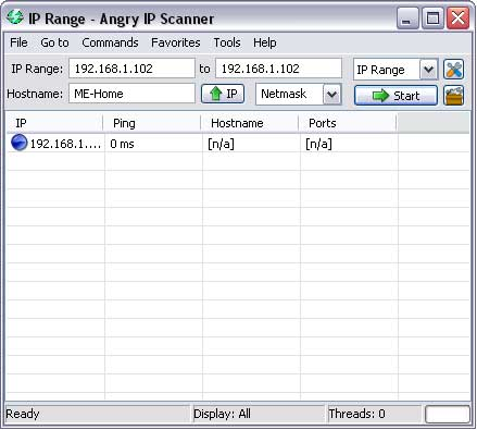 Angry IP Scanner in action Screenshot