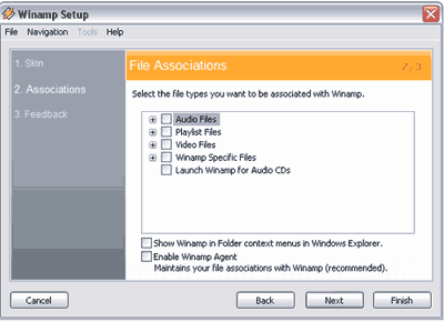 Winamp File Associations