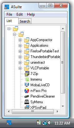 ASuite - Portable Start Menu Screenshot
