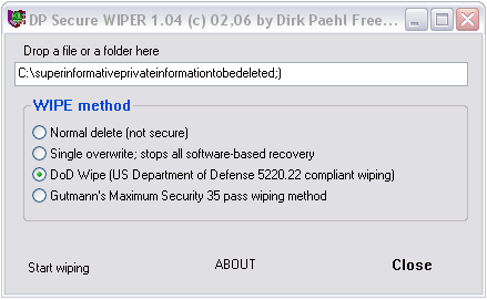 DPWipe Screenshot
