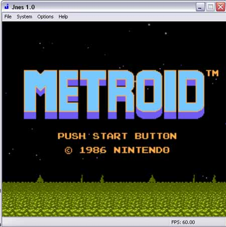 Jnes Screenshot featuring Metroid