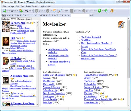 Movienizer - Movie Organization Software