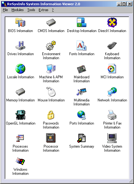 ReSysInfo Portable Information Tool for Windows