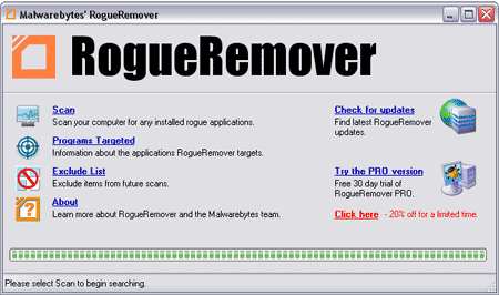 Rogue Remover Screenshot