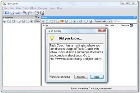 Task Coach Portable Task Manager Screenshot